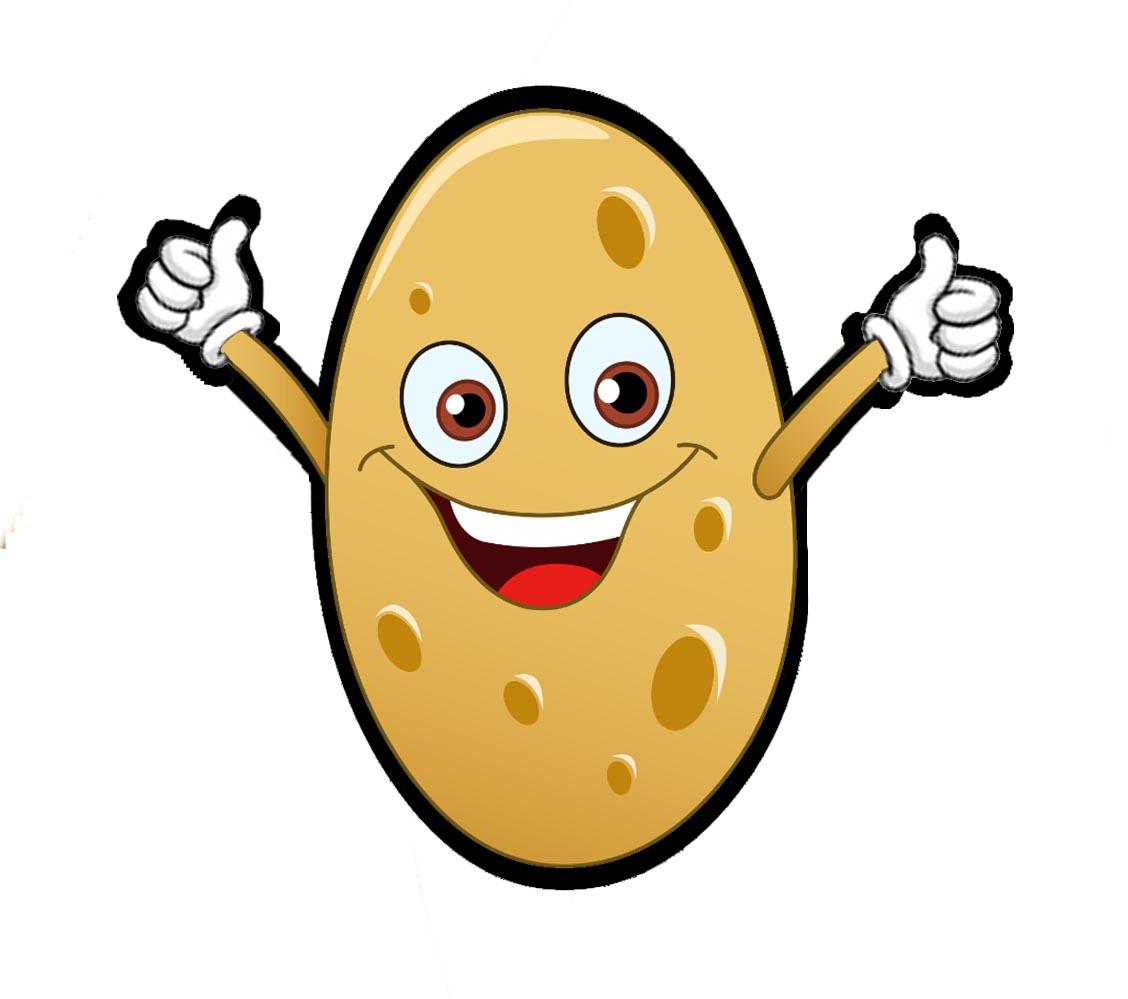 Картошка прикольные рисунки, вечеринку